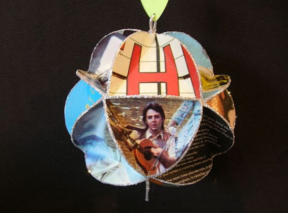 Paul McCartney Album Cover Ornament Made Of Record Jackets