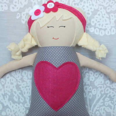 Handmade Doll, Soft Doll, Baby Doll, Gift, Baby Shower (Free Shipping In The U.S) by Secelie