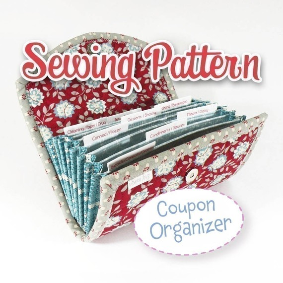 PDF SEWING PATTERN - Coupon Organizer Expense Organizer Coupon Wallet Receipt Organizer Cash Budget Organizer Instant Download by iSew