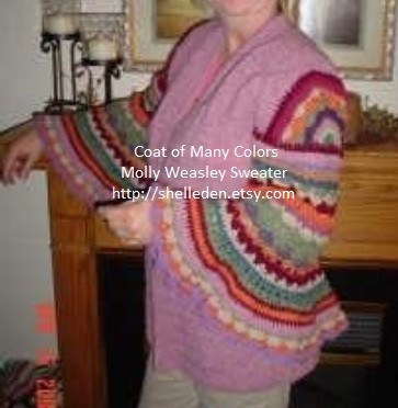 PDF Coat of Many Colors (Molly Weasley Sweater) Crochet Pattern for complete sweater ALL Crochet by Shelleden