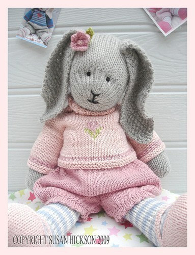 Bunny Knitting Pattern / Toy Knitting Pattern / PRIMROSE Rabbit / Plus Free 'Handmade Shoes' Knitting Pattern / INSTANT Download by maryjanestearoom