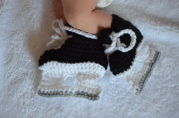 Hockey Booties, NHL skates, Ice Skate Booties, Baby shower, Ice skates Customize by Dremnstar