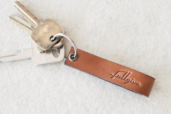 Java Leather Key Fob // FREE Personalization by fullgive
