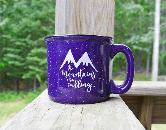 Stoneware Coffee Mugs Wavy Shape Yellow Flower Ceramic