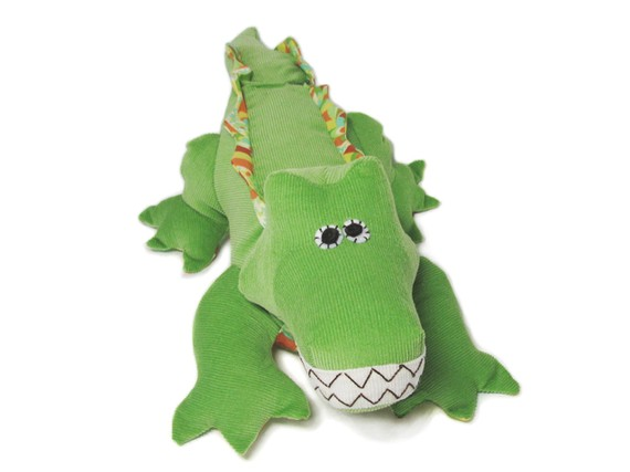 Crocodile Plush Toy Sewing Pattern PDF INSTANT DOWNLOAD by FunkyFriendsFactory