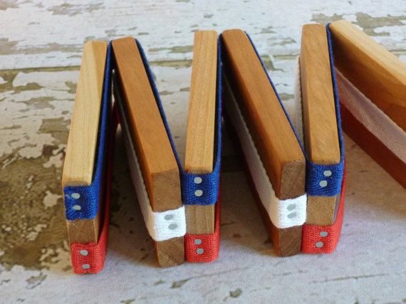 Toy Jacob's Ladder - Handcrafted Wooden Folk Toy Jacob's Ladder Red White and Blue by McCoyToys