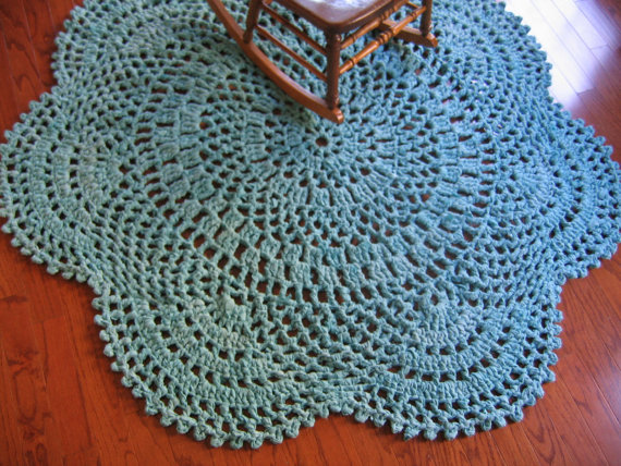 Large Rag Crochet Doily Rug Pattern-Daydreams by RaggedyAnns