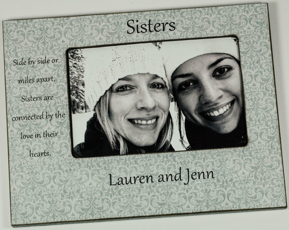 Personalized Sisters Frame, Best friend frame 4x6 / 5x7 by OnkieBazoobie