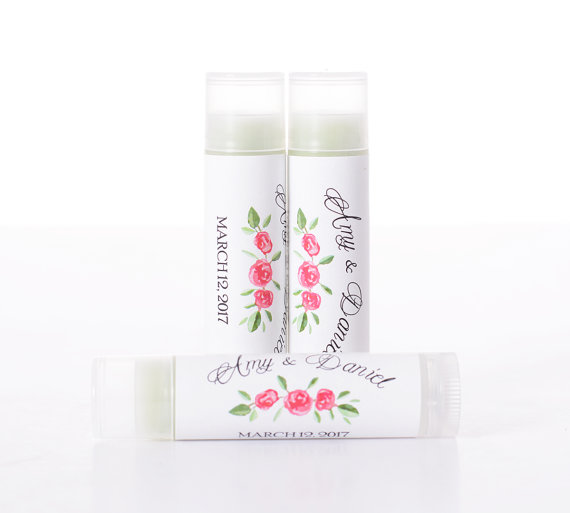 Vintage Wedding Favors 25 Lip Balm Chapstick Stickers And Tubes