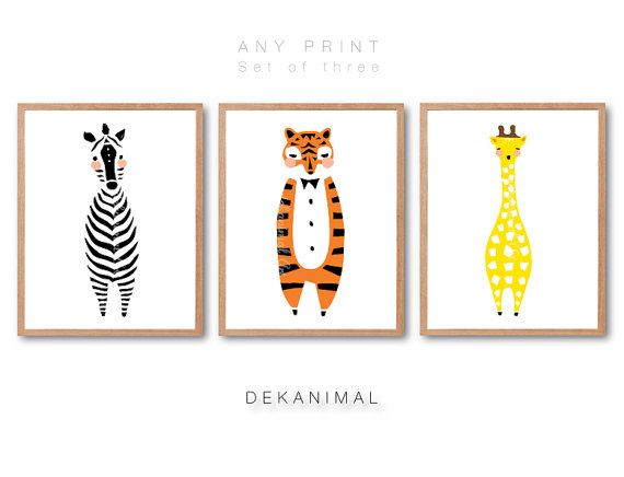25,00 USD By Default, You Will Receive The Infant Zebra Print, Child Tiger  Print, Child Giraffe Print As Revealed In The First Pictures.