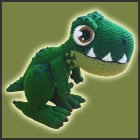 Amigurumi Pattern Crochet T-REX Dinosaur DIY Instant Digital Download PDF by DeliciousCrochet