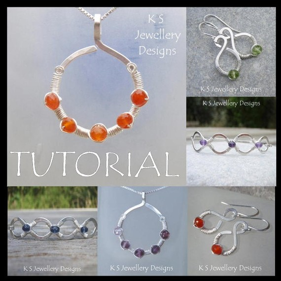 Wire Jewelry Tutorial - COILED JEWELS (3 Projects - Pendant, Earrings and Bangles) - Step by Step Wire Wrapping Wirework - Instant Download by KSJewelleryDesigns