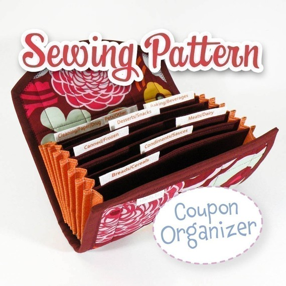 PDF SEWING PATTERN - Coupon Organizer Expense Organizer Coupon Wallet Instant Download by iSew