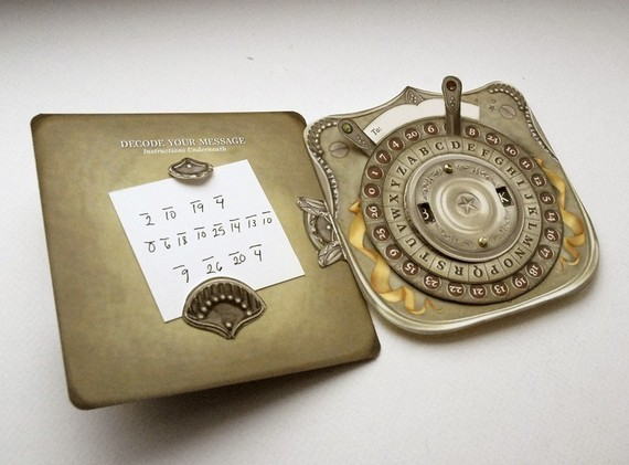 Custom Secret Decoder card. Perfect surprise gift for husband, dad, girlfriend, boyfriend. & Gt; & gt; Read ITEM DETAILS for details! by crankbunny