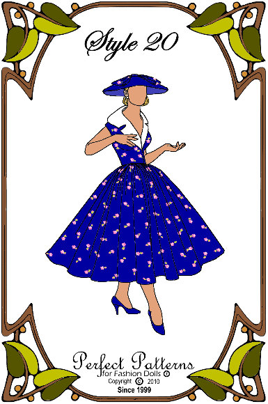 PDF - Gene Marshall Doll Clothes Pattern - Dress, Underskirt - No. PDF-20 by PerfectPatterns