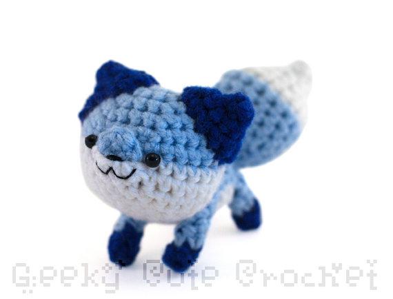 Crochet pattern Little fox - amigurumi toy | 434x570