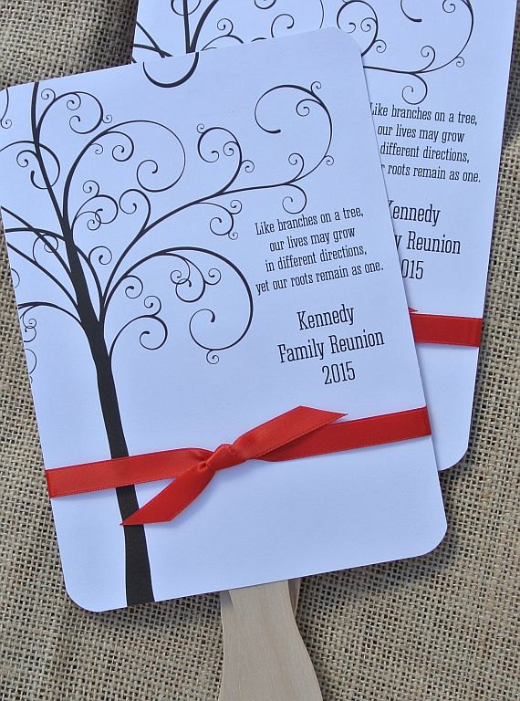 Family Reunion Favors - Custom Fans - Family Reunion Favors - Personalized Hand Fans Favors For Family Reunion by abbeyandizziedesigns
