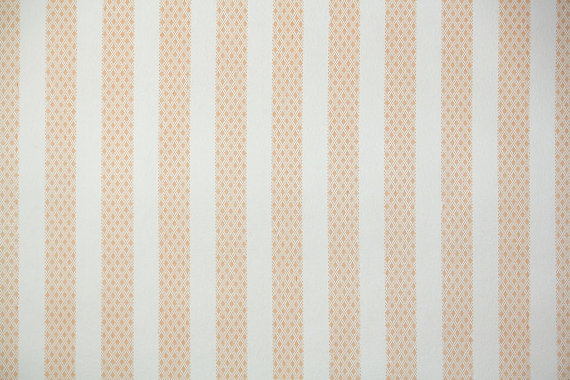 1940s Vintage Wallpaper Orange and White Stripe by HannahsTreasures