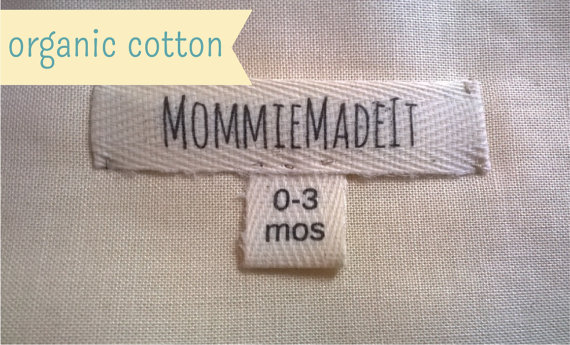 Organic Cotton Fabric Ribbon Name Labels - Custom Clothing Labels Made to Order by MommieMadeIt